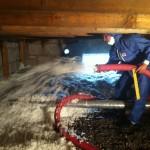Bēniņu siltināšana ar beramo minerālvati